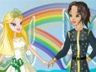 Wenn eine Fee heiratet, sehen Sie einen Regenbogen des Glücks in der Luft! Die