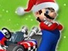 Mario kommt in die Stadt auf seinem Kart! Helfen Sie ihm, sicher zu fahren, wä