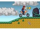 Mario gerne auf seinem Motorrad fahren! Fahren Sie durch alle Ebenen und versuc