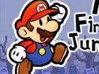 Mario muss durch Feuerstellen gehen, um endlich seine Prinzessin! Helfen Sie ih