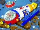 Mario ist auf einem Raumschiff-Rennen auf dem Platz. Er würde zu fahren sein R