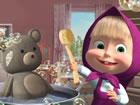 In Mascha und dem Bären reinigungsspiel haben Mascha und ihre Bärenfr