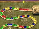 Zuma Match 3 Spiel im Maya-Stil. Schieße Murmeln in die Kette und passe 3