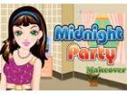 Das Mädchen ist immer bereit, für eine Party ...