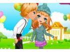 Das junge Paar plant romantische Zeit haben. Könnten Sie das niedliche Mädche