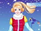 Violet liebt den Winter! Sie liebt den Schnee, die frische Luft, alle Aktivitä
