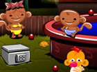 Monkey GO Happy Stage 547 - Summertime Pool Party with Monkeys and Fishies Them