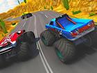 Leistungsstarke Monster Trucks sind bereit zum Rennen ... Zeit zu beweisen, wer