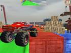 Fahren Sie Monster-Stunts-Fahrzeug auf komplexen, herausfordernden Strecken - s