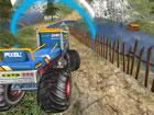 Hochwertiger Offroad-Monster-Truck wartet hier auf Sie, um im Simulator-Gebirge