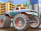 Machen Sie sich bereit, das große Rad des Real Monster Trucks auf kreativ
