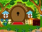 Es gibt ein paar Häuser in einem Dorf. An diesem Ort war ein Müdigkei