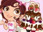 Dieses nette Bäcker ist bereit, die süßeste Hochzeitstorte jemals machen! Hi
