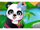 Diese niedlichen Panda kann nicht warten, um mi...