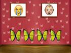 Niedliche Schmetterlingshaus flucht ist ein ...