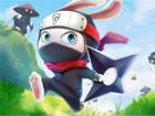 Ninja Rabbitist ein Superheld. Eines Tages wurden die Kinder im Dorf vom