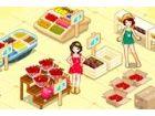 Ein Obst-Shop muss alle Kunden mit schönen Mus...