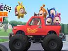 Steuere deinen Oddbods Monster Truck, um die Flagge zu erreichen. Steigern, bre