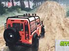 Es ist Zeit zu zeigen! Jeep-Fahrkünste auf hügeligen Bergstraße