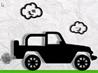 Papier Monster LKW Rennen ist ein Arcade-Spiel mit einer schwarz-weißen S