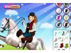 Sich und bereiten Sie sich Ihre Lieblings-Pferd Reiten und einige nette Tricks