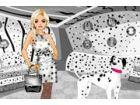 Dieses Mädchen hat eine besondere Sache für Polka Dots Fashion; Sie hat einen