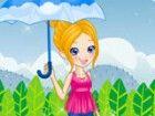 Der Frühling ist Pollys schönste Zeit des Jahres, weil der regen macht ihre L