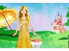 Die Prinzessin ist um ihre Burg Fuß.