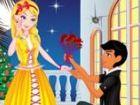 Der Prinz kündigt seine Liebe zu seiner Freundin. Dies ist ein wichtiger Tag i