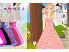 Die Prinzessin ist die Burg herumlaufen, es ist sonnig und schönen Tag
