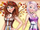 Die gefrorenen Schwestern Anna und Elsa veranstalten heute eine Herbstparty! Es