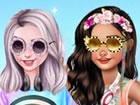 Spielen Sie unser neues Spiel namens Princesses Roller Girls und verkleiden sic