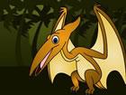 Pteranodon ist in einem Käfig gefangen und kann von dort nicht entkommen.