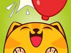 Geschwollene Katze mag Luftballons. Können Sie ihm helfen, mehr Ballons zu