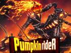 Pumpkin Rider ist ein Radrennspiel in einer Halloween-Umgebung mit einem Muster