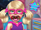 Super Puppe Schwester hat eine Halsentzündung! Gehen wir zum Arzt und find