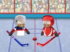 Puppet Hockey Battle ist ein eiskaltes Hockey sport spiel. Zuerst müssen S