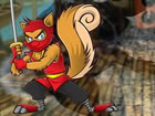 Ein schroffes Ninja-Eichhörnchen lebte ...