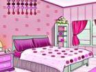 Sie sind in einem rosa Raum gefangen. Die Tür ...