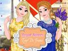 Anna und Elsa gehen nach Frankreich! Helfen Sie...
