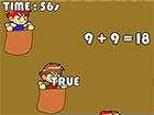 Sack Race ist ein lustiges Spiel, das Sport und Mathematik kombiniert. Sie nehm