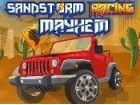 Versuchen Sie, den Sandsturm nähert gefährlich wird durch Renn Ihrem Jeep dur