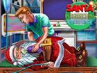 Eines von Santas Rentieren hatte nicht genug magischen Staub, sodass der Schlit