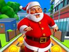 Hilf dem Weihnachtsmann, die Geschenke in diesem verrückten Laufspiel zu l