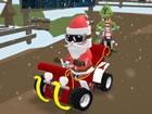 Santas Rush: Wenn The Grinch Chase, mit all den Schönheiten des Weihnachts