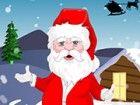 Santa Clause Vorbereitung auf ein großes Fest Nächte, ihm zu helfen, mit perf