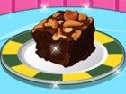 Diese schokoladige Brownies garniert mit Karame...