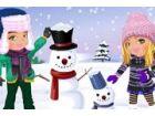 Eine der am meisten Spaß Aktivitäten an einem Wintertag baut einen Schneemann