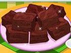 Cook eine reiche und feucht Brownie mit halb süßen Schokolade Brocken, mit ei