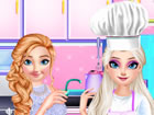 In Schokoladenplätzchen Kochen Spiel brauchen Prinzessin Anna und Elsa von